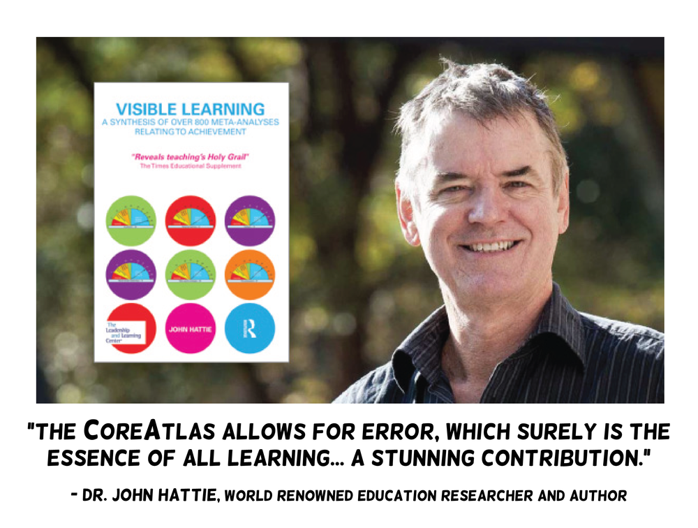 John Hattie endorsement of CoreAtlas