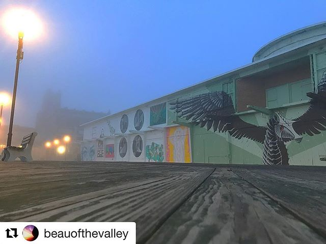 #Repost @beauofthevalley ・・・ #foggymorning #asburypark #asburyparkboardwalk #asburyparkdaily #woodenwallsproject #jerseycollective #jshn #njspots #njisntboring #njisbeautiful #myasburypark #blackglassgallery #centraljerseyexists @woodenwallsproject