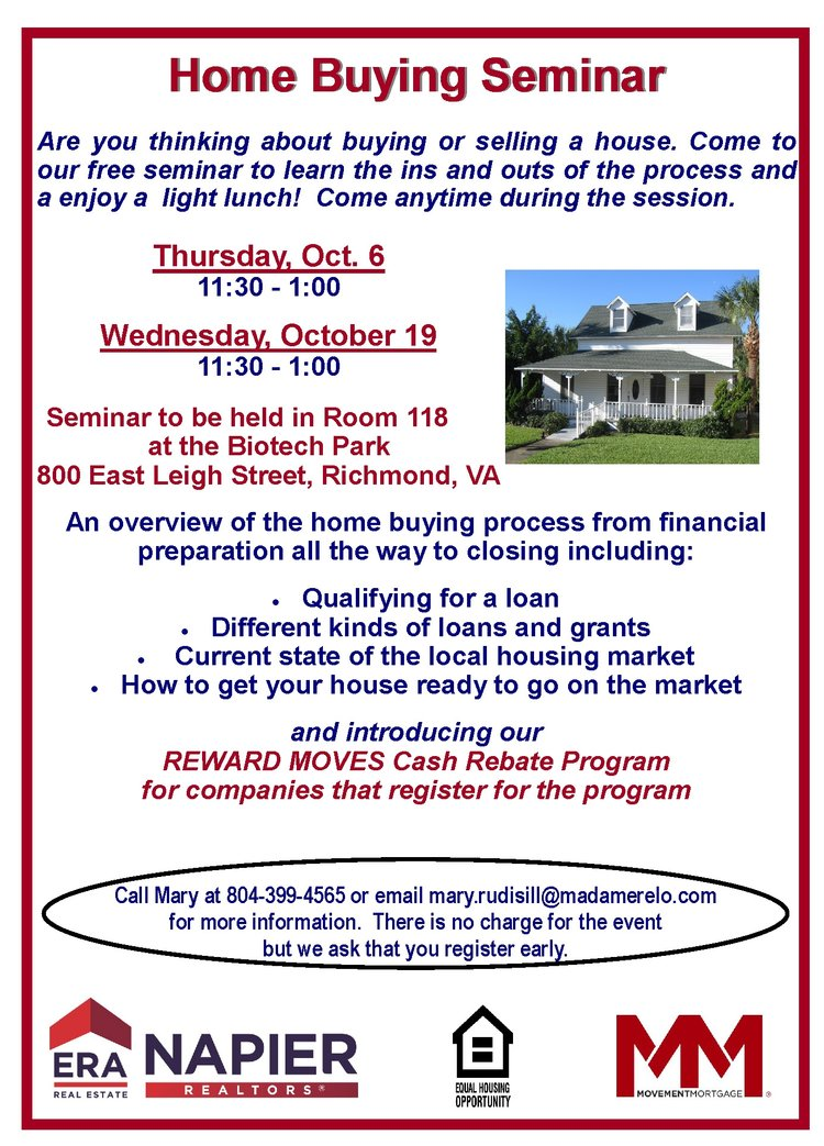 Home Buying Seminar VA Bio Tech Park