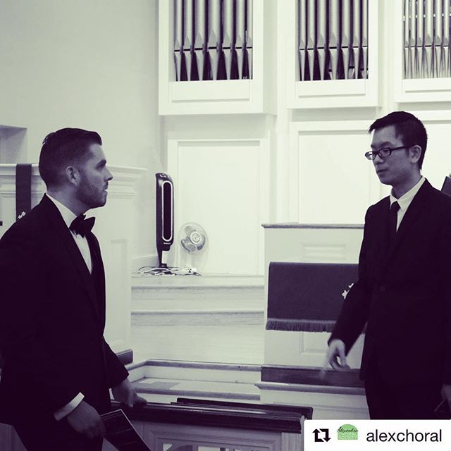 CCS Artistic Director Brian J. Isaac chatting with pianist Wei-Han Wu prior to their performance with the Alexandria Choral Society in Alexandria, VA.