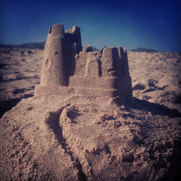 Our new beach castle (Taken with  Instagram )