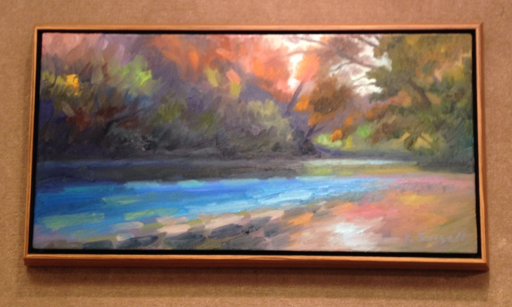 Autumn River  14 X 26 inches SOLD