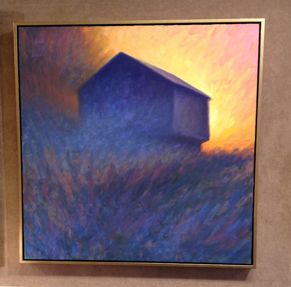 Barn in Blue Fog  37.5 inches square $2400.