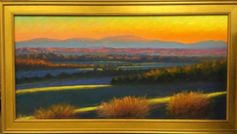 Hot Sunset 31 X 54 inches $2500.