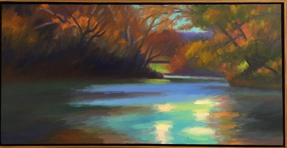 Autumn River 20 X 19.5 inches $1800.