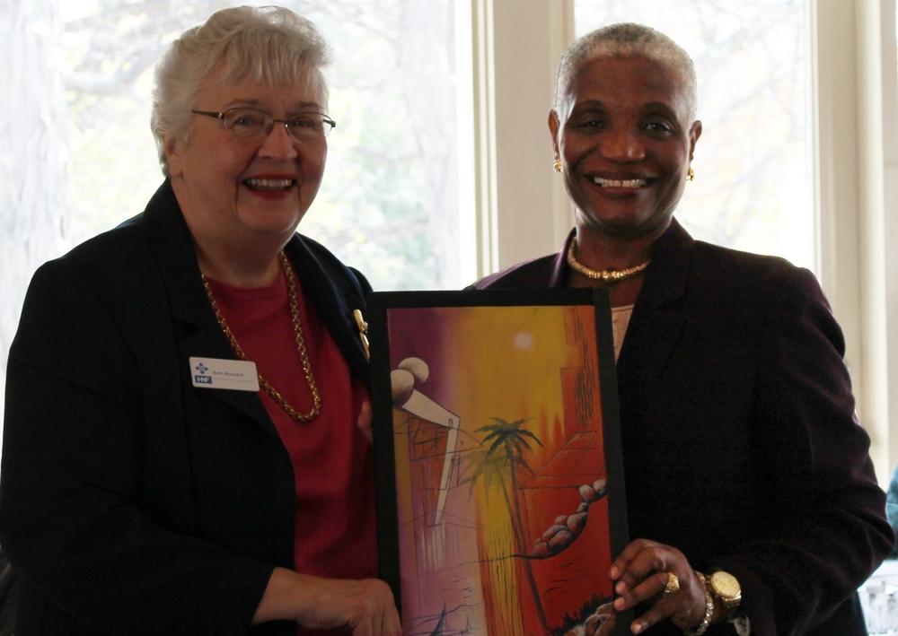 Dr. Ruth Barnard and Dean Hilda Alcindor