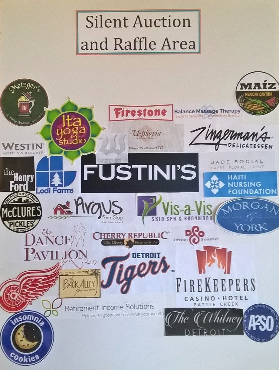 Businesses that supported the silent auction and raffle