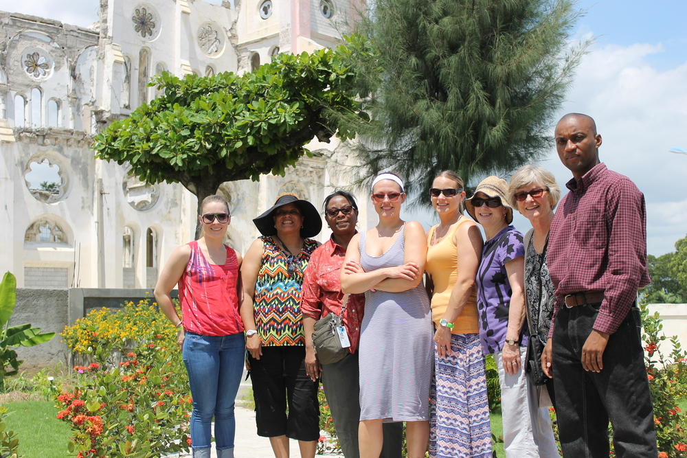 May 2016 Trip Participants at Cathedral of Our Lady of the Assumption, Port-au-Prince