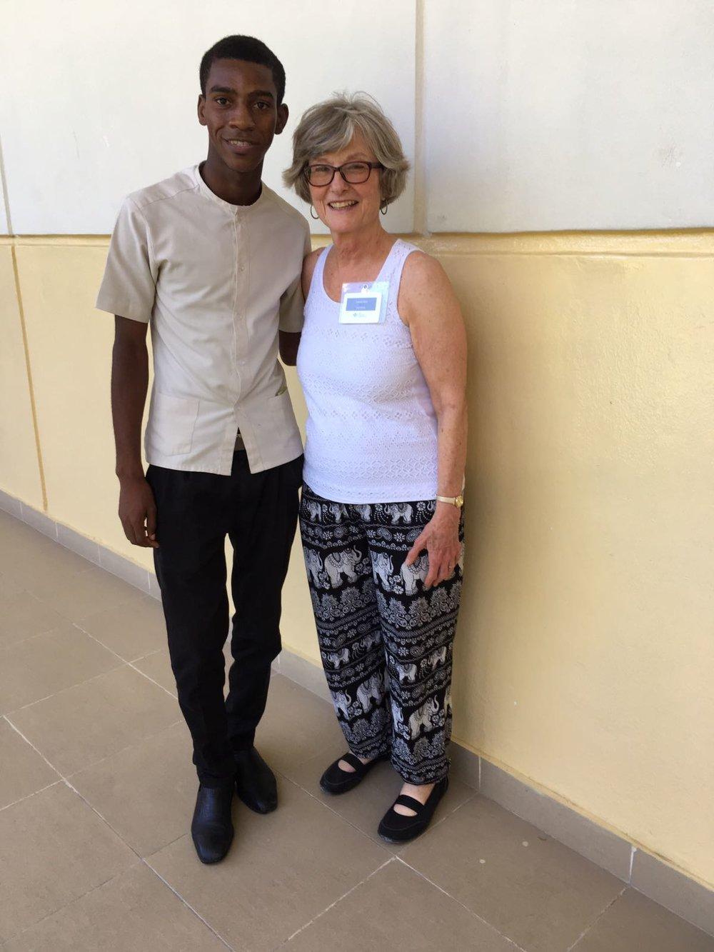 FSIL student, Jacky Joseph, with Joanne Pohl, HNF board president