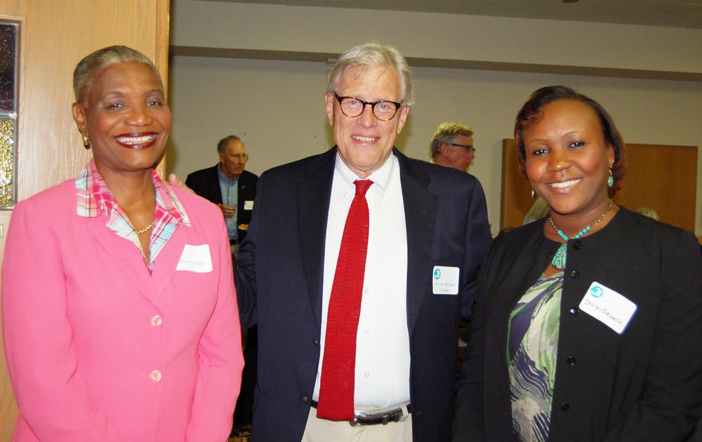 Dean Hilda Alcindor, Rev. Dr. Michael Lindvall, & Shirley Dieuveille