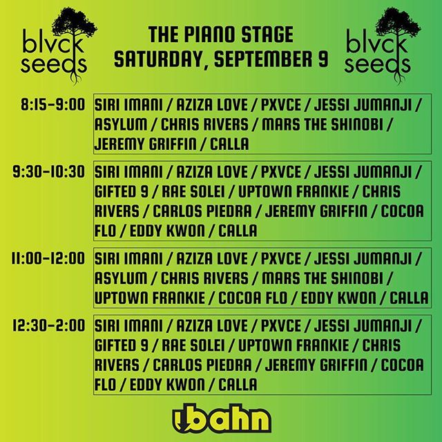 Do not forget to stop by the Piano Stage and catch @blvckseeds perform! #UbahnFest