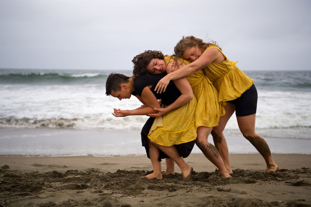 Hannah and her fellow performers in Terra Incognita: Through the Waves Image: Brian Byllesby