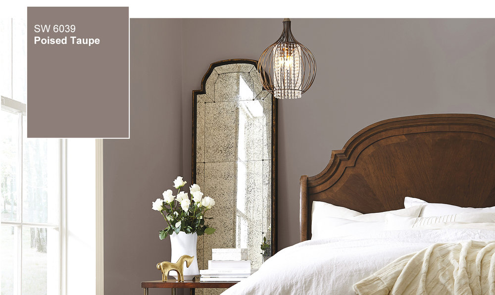 Master Bedroom in Poised Taupe