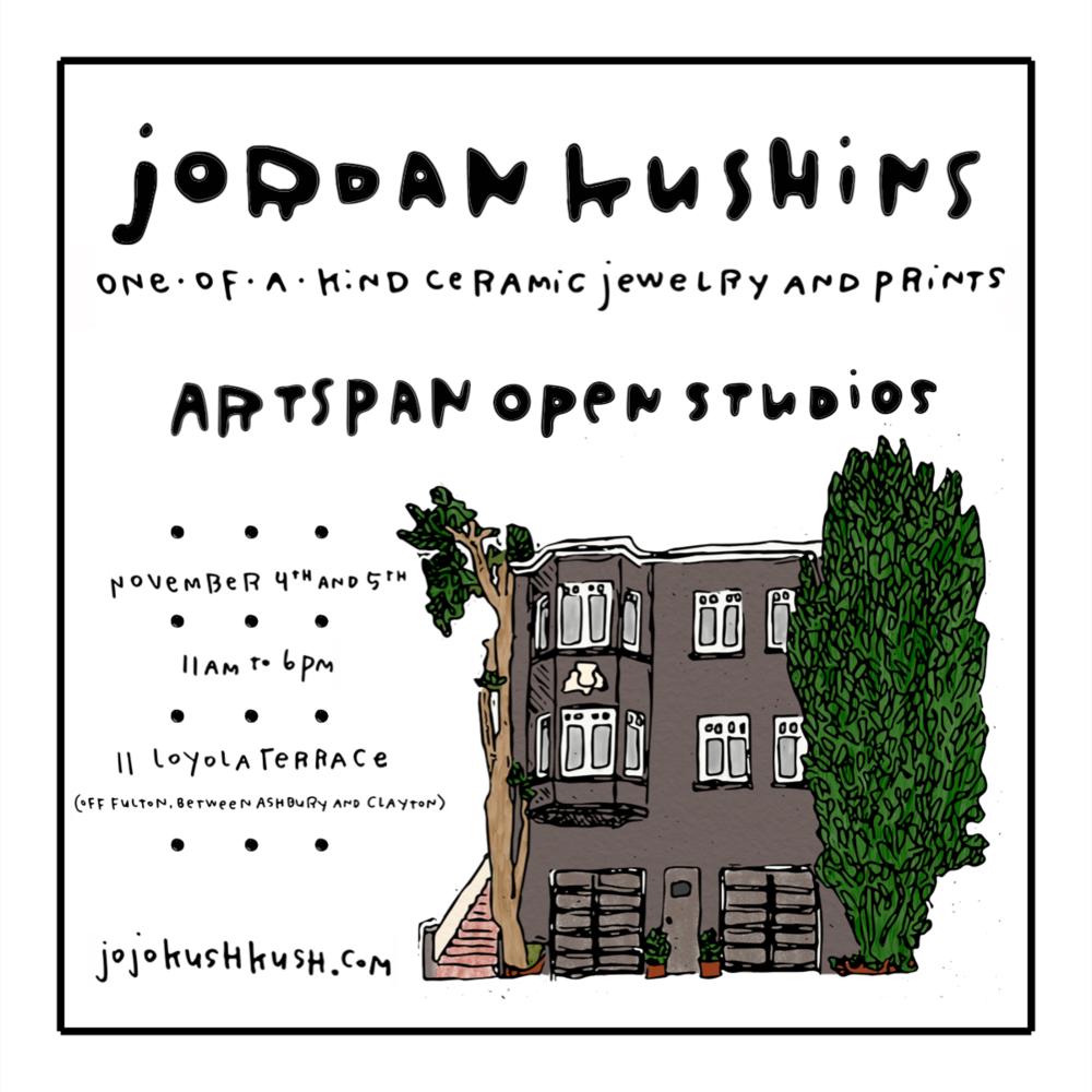artspan open studios // jordan kushins // november 4th and 5th, 2017