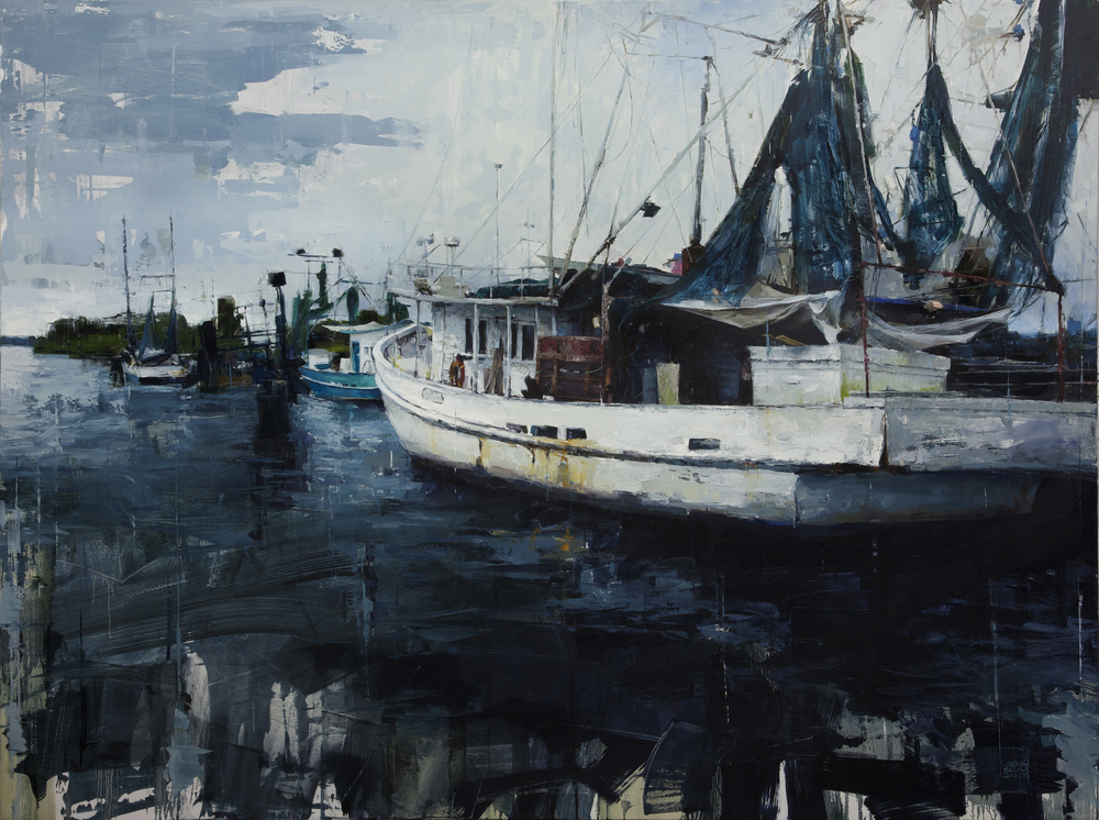 Port of Delcambre    2015 72 x 96 inches   oil on canvas