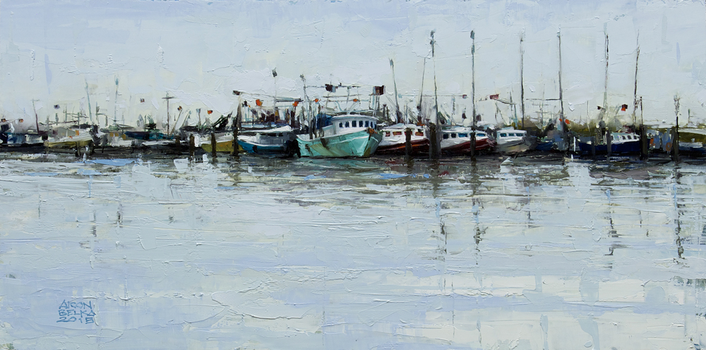 Venice Marina    2015 10 x 20 inches   oil on wood