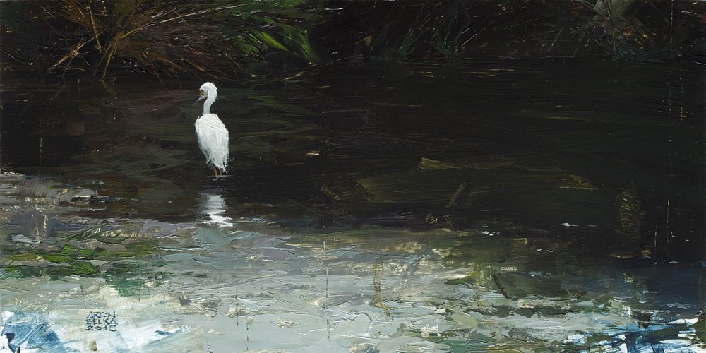 Bayou Sauvage    2015 10 x 20 inches   oil on wood