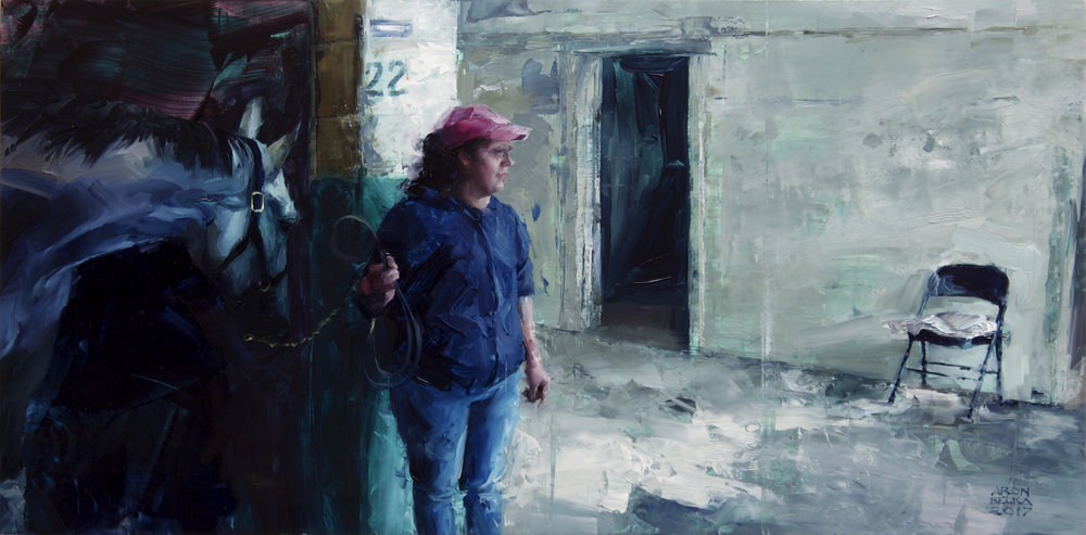 Shedrow   2017 12 x 24 inches   oil on panel