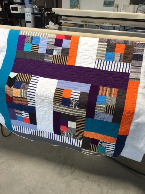 This is 1 of 3 quilts - a lap quilt with a mink backing.