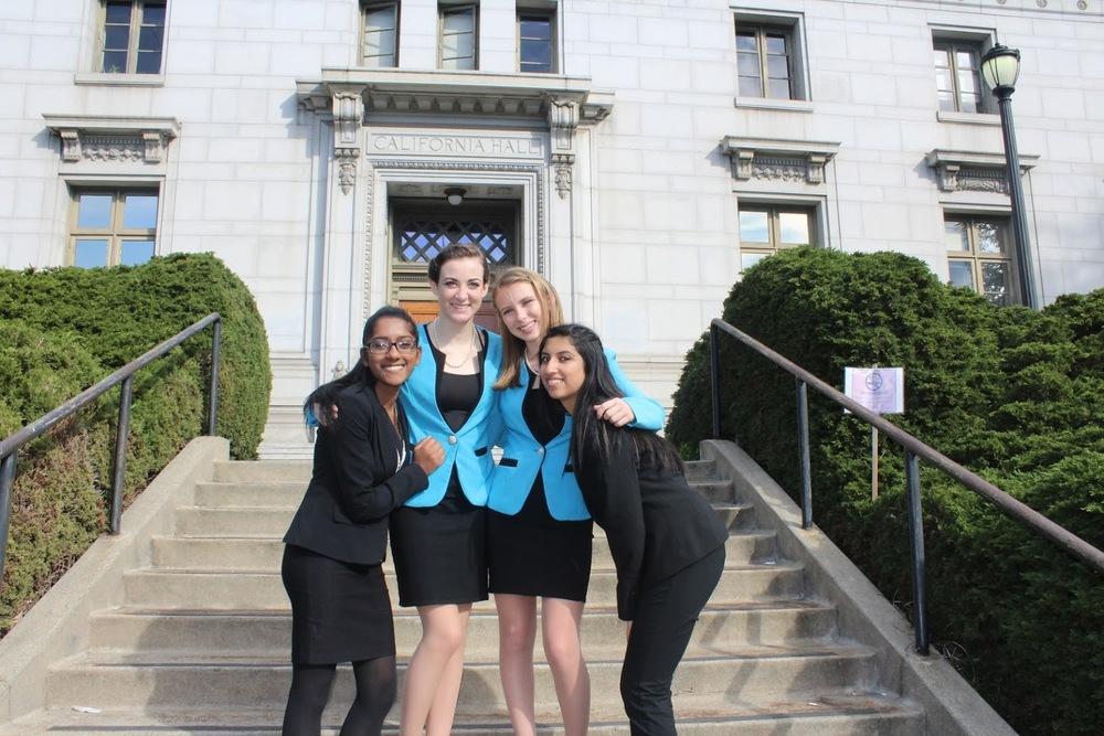 The CALifornia Girls: Bharathi Arasan, Cassie Korb, Maddie Whalen, Jahnvi Singh