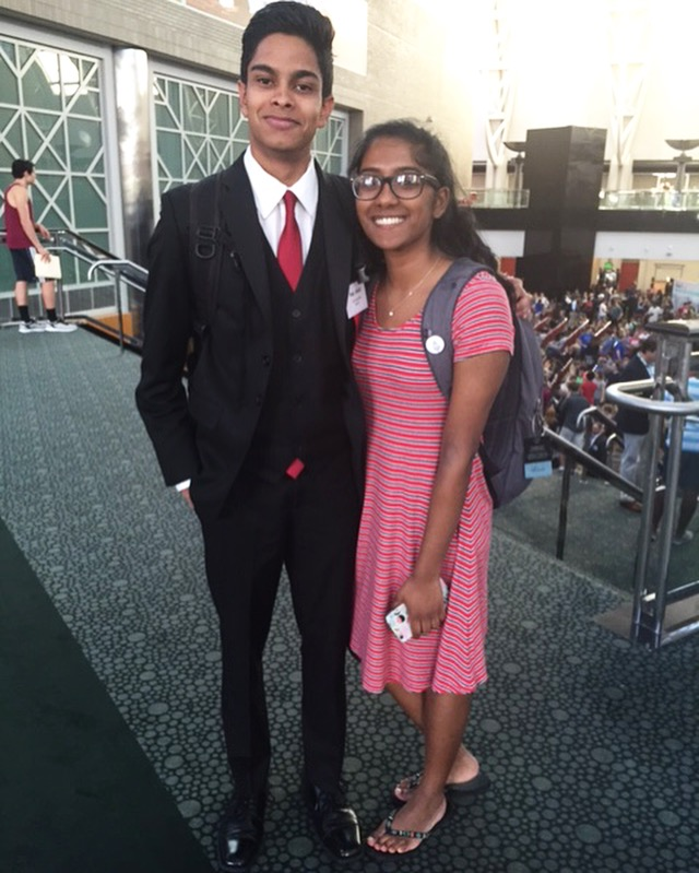 Our two national finalists - Ismail and Bharathi :^)