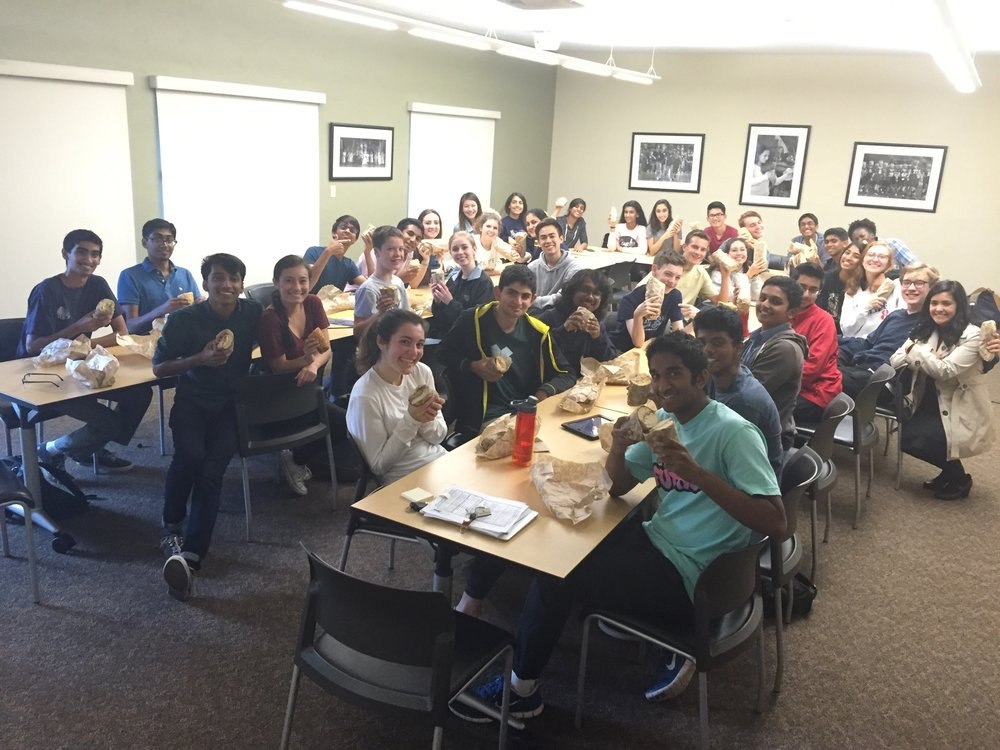 The students enjoyed sandwiches from Ike's, a team favorite!