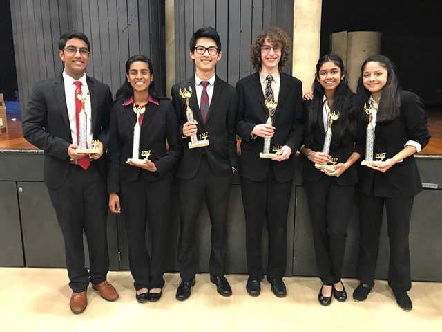 Congratulations to freshmen Kirthi Ponnuswamy, Arushi Lahiri; sophomores Eshan Gupta, Aditi Chatradhi; and seniors Liyang Chen and Murad Awad for qualifying to State in Policy Debate.