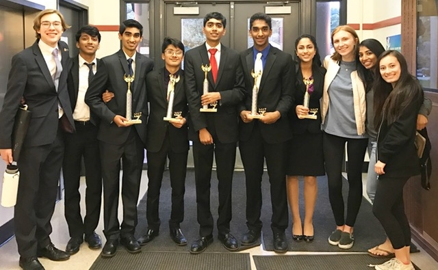 Congratulations to sophomore Aayush Sutaria; junior Rahul Ramakrishnan; and seniors Siddhant Gannu and Akaash Tawade for qualifying to State in Congressional Debate.