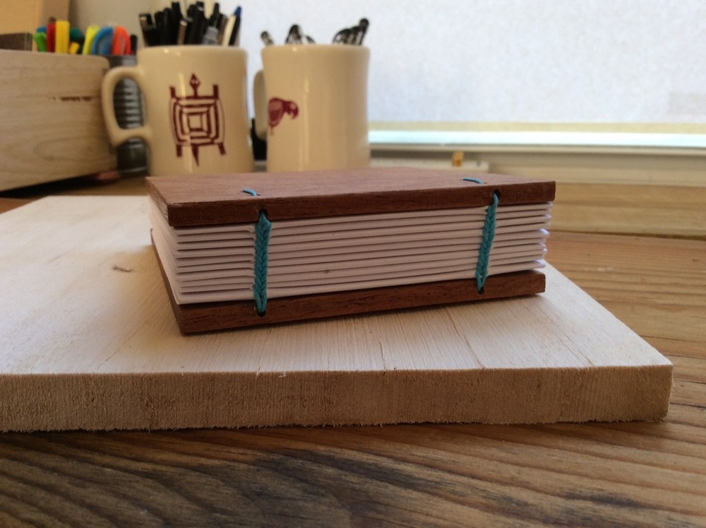 wooden cover journal