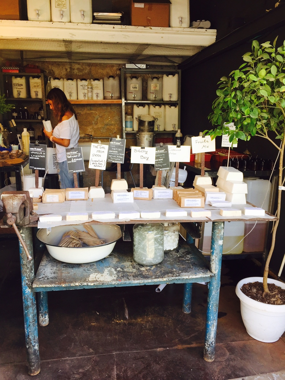 soap shop in Tel Aviv
