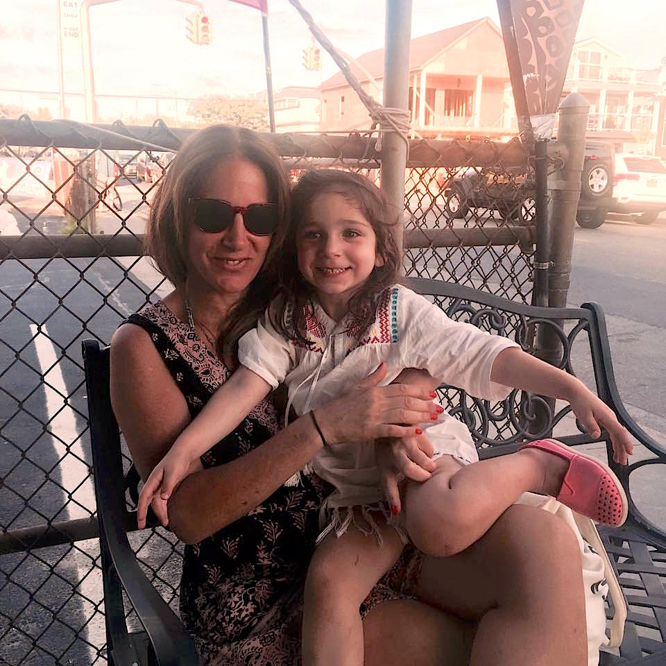 Susan Lazar with her daughter Mikah.