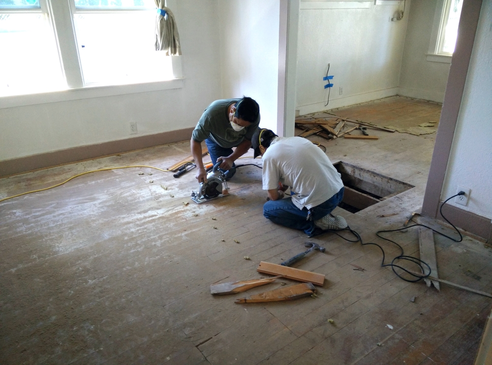 Our skilled workers employ the best methods to replace damaged hardwood floors.