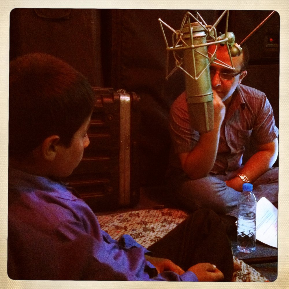 Recording an audio interview with Sohrab Mir-Safiullah in Kabul during production on Angels Are Made Of Light