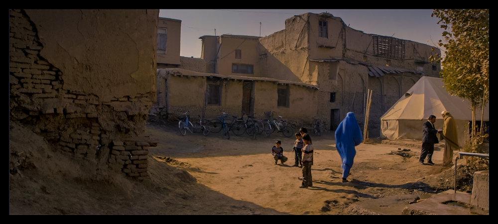 Film still: Morning at the Daqiqi Balkhi school