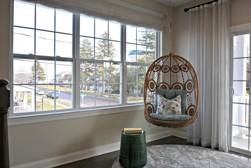 WB Homes. A bit of Boho adding texture to a room.