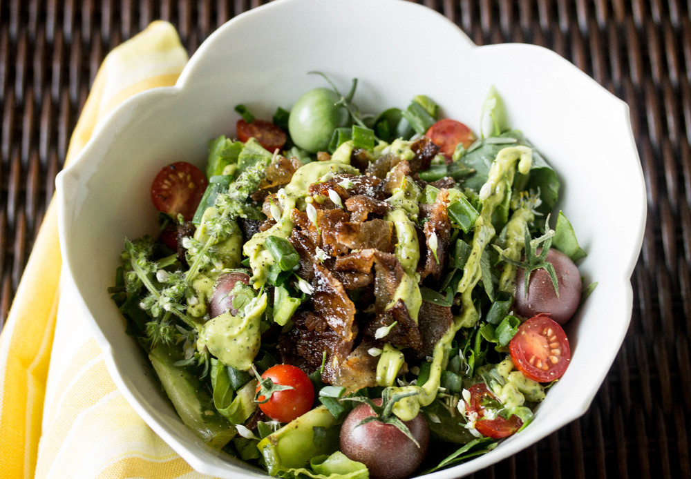 Drizzle on top salads for a creamy dressing.