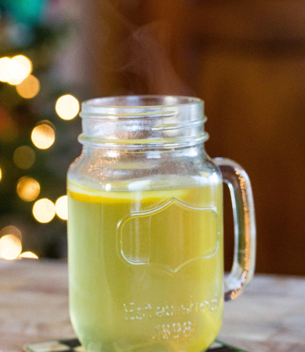Serve garnished with citrus fruit