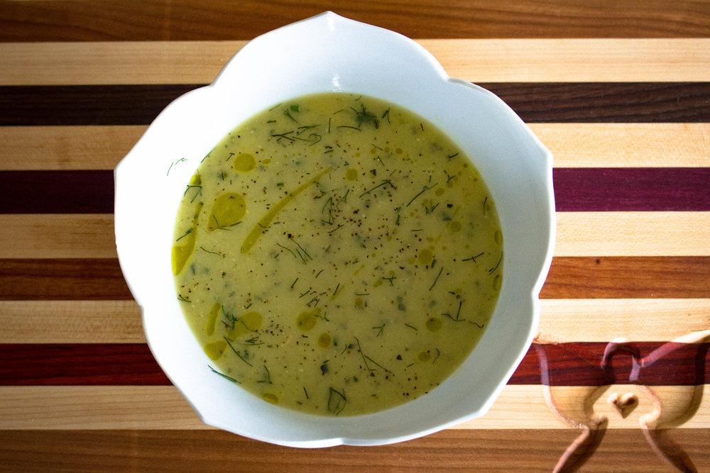 Zucchini Parsnip Soup
