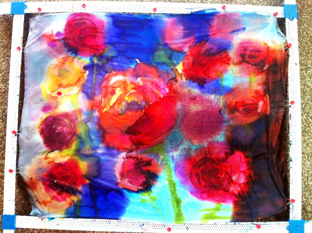 The original painting by Cydney Mariel Galbraith Created on this silk 2012