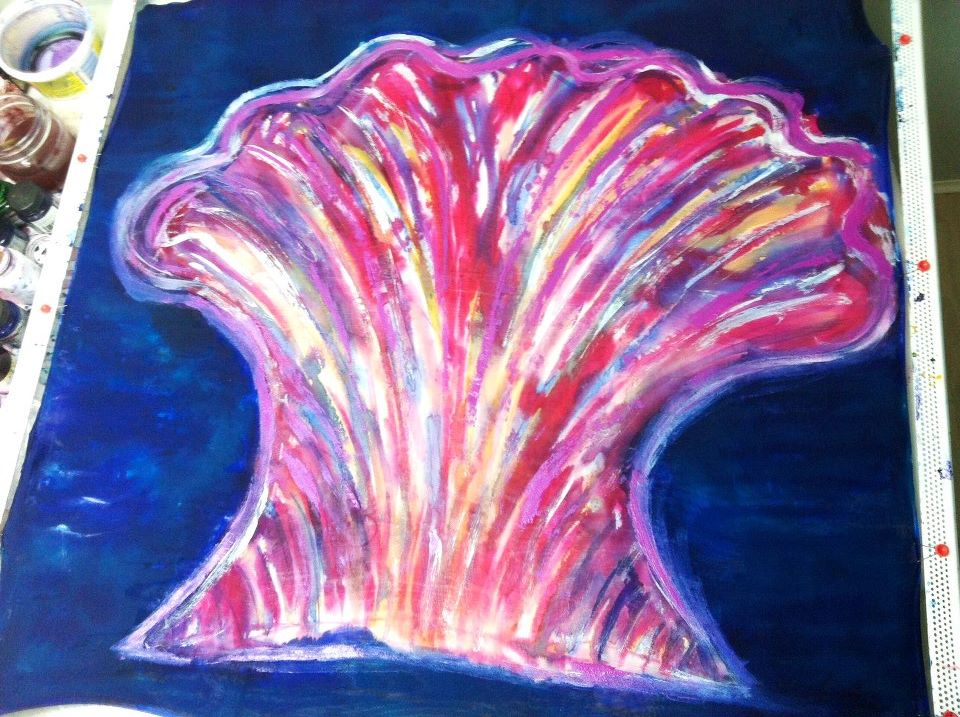 The original Pearl of Great Price painting done by Cydney Mariel Galbraith on silk