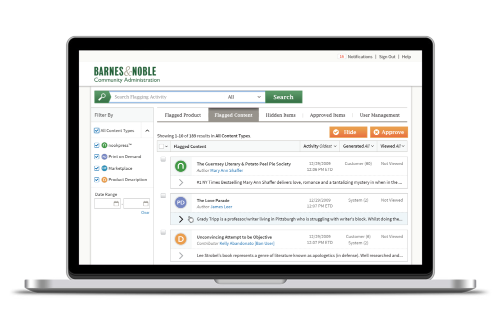 Barnes & Noble CMS