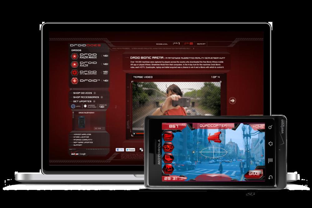 Motorola Droid—Arena Hunt