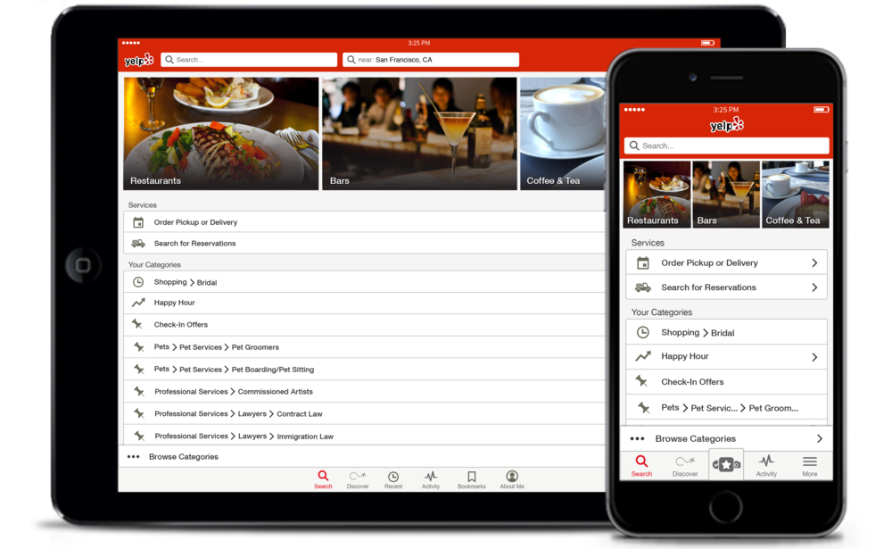 Yelp iOS App Redesign