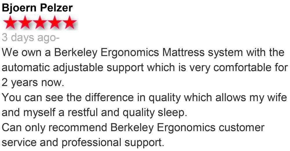 berkeley ergonomics mattress review