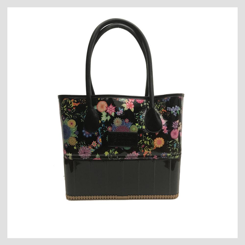 Pam Handbag, Black Floral