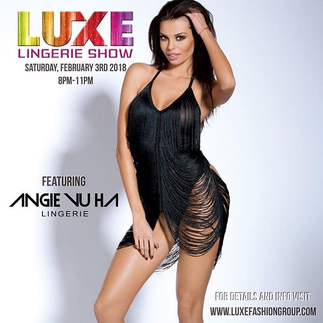 Excited to announce another Angie Vu Ha Lingerie Show SUPER BOWL WEEKEND @ American Social Tampa, Florida this February 3rd @angievuhalingerie @angievuha #Luxe #fashionshow #models #angievuhalingerie #SuperBowl