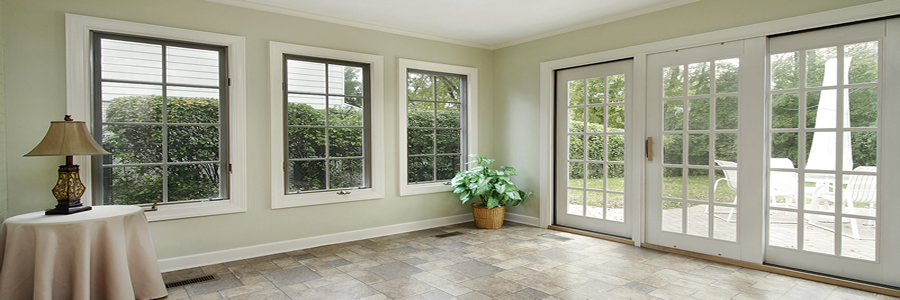 An existing home with brand new windows.
