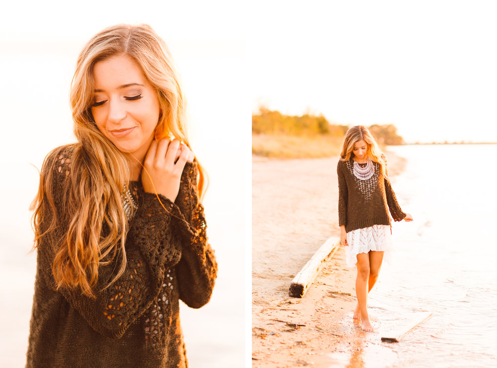 Taylor's Fall Senior Session by the Beach - Maryland Senior Photographer - Brooke Michelle Photography