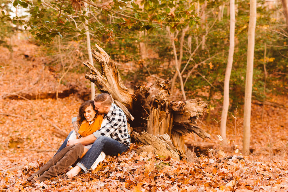Maryland Boho Anniversary Session - Wedding Photography - Woodland Session at Quiet Waters State Park - Brooke Michelle Photography