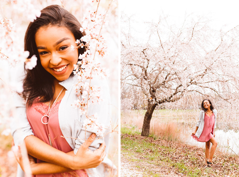 Cherry Blossoms - Maryland Spring Senior Session - Brooke Michelle Photography